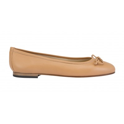 Vincenzo Ferrara - Classic Leather Ballerina In Tan