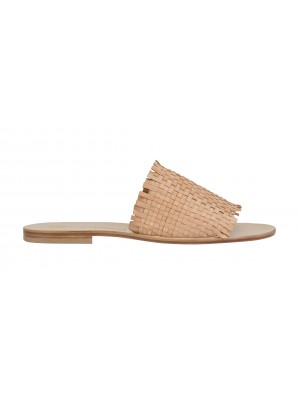 Vincenzo Ferrara - Nude Leather Woven Slide