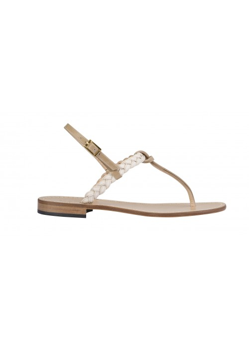 Vincenzo Ferrara - Nude Leather Flat Thong Sandal