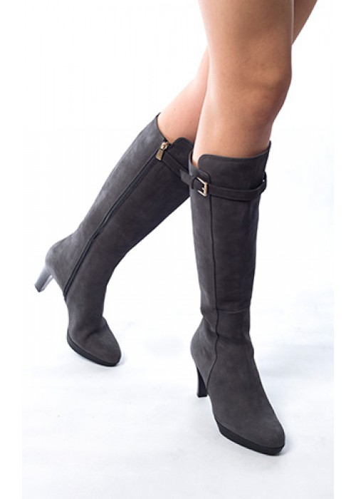 Fratelli Rossetti - Suede Knee Length High Heel Boot