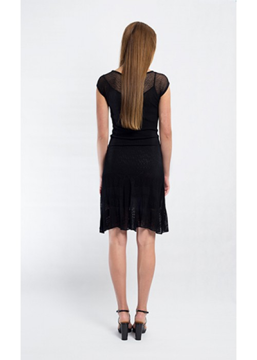 Fuzzi - Short sleeve knitted dress