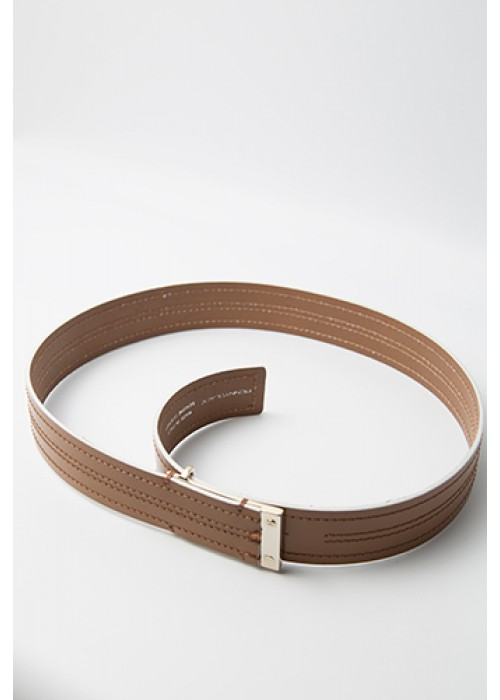 """Sannita"" - Leather belt with gold tips"